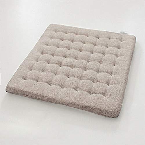 W-Nuanjun-pad Holzstuhl-Sitzkissen Sitzkissen Sitzkissen Sitzkissen Japanische Wohnzimmermatten Designer Almofadas Sofa Pads, Dunkelbraun, About 40 X 40 cm