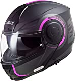LS2, Casco modular de moto, Scope Arch, titanio rosa, S