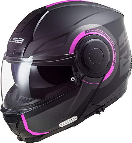 LS2, Modularer Motorradhelm, Scope Arch, Titan Pink, XS