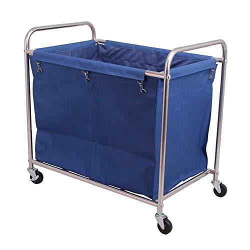 YLXBH Faltbarer, tragbarer Wagen, Wäschereiorganisator für gewerbliche Zwecke mit Rollen, Stabiler Schöpflöffel-Aufbewahrungsbehälter (Farbe: beige)