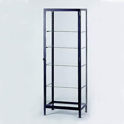 Lambert Sneeuwwitje vitrinekast deurslag rechts, frame ijzer gelakt zwart, glas met facetgeslepen, met 4 legplanken glas, in hoogte verstelbaar, 75 x 55 x 210 cm 185 kg 55701