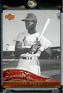 2005 Upper Deck Sweet Spot Classic Baseball Card #54 Lou Brock St. Louis Cardinals - Mint Condition - In Protective Display Case !