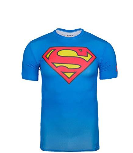 Under Armour Jungen T-Shirt, Funktionsshirt Superman, Größe YLG (14-16 Jahre)