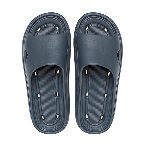 Zapatillas de baño Antideslizantes ultraligeras, Sandalias de baño con Fugas de baño de Pareja-Gris_35-36, Baño Sandalia Suela De Espuma Suave Zapatos