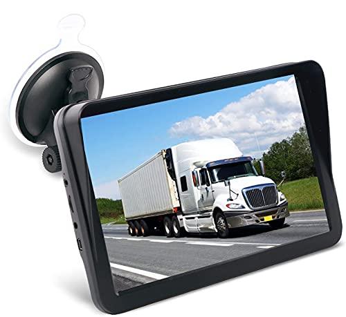 GPS Navigatore Satellitare per Auto Camion, 9 Pollici Preinstallate EU&UK 2020 Mappe (Aggiornamenti Mappe Gratuite a Vita), Include Codici Postali, Avvisi Autovelox e Assistenza Corsia POI