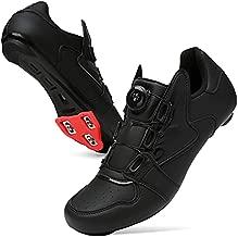 Barerun Cycling Shoes Bike for Mens Road Bike Touring Riding Indoor Shoes Black 13 Women 10.5 Men