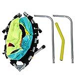 FOLOSAFENAR Sicheres Kindertrampolin 100 kg Lager Mini Trampolin Kinder Rebounder, mit Handlauf für...