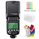 Godox TT685S TTL 2.4G GN60 High-Speed Sync 1/8000s Wireless Master Slave Flash Speedlite Speedlight Compatible for Sony Cameras with Diffuser & Filter & USB LED