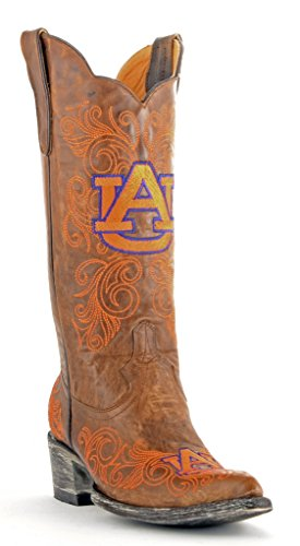 Gameday Boots NCAA Ladies 13 inch University Boot Auburn Tigers, 5.5 B (M) US, Black