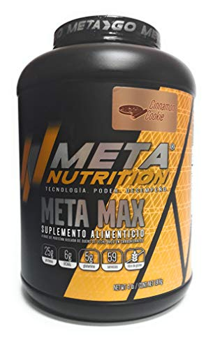 Meta Nutrition, Meta Max 4Lbs, Cinnamon Cookies (Galletas de Canela).