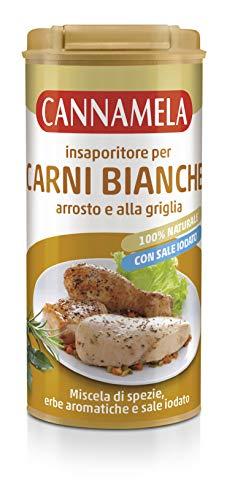 Cannamela Linea Insaporitori, Miscela di Spezie, Erbe Aromatiche e Sale, per Carni Bianche, da Gusto Naturale