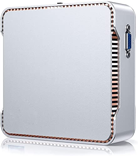 NiPoGi Mini PC, Procesador Celeron J4125 8GB DDR4 / 256GB ROM Windows 10 Pro Mini Ordenador, Soporte de Pantalla Triple / 4K HD/WLAN de Doble Banda/Gigabit Ethernet/Bluetooth 4.2…