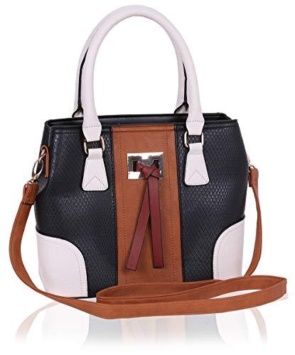Zwart - bruine handtas
