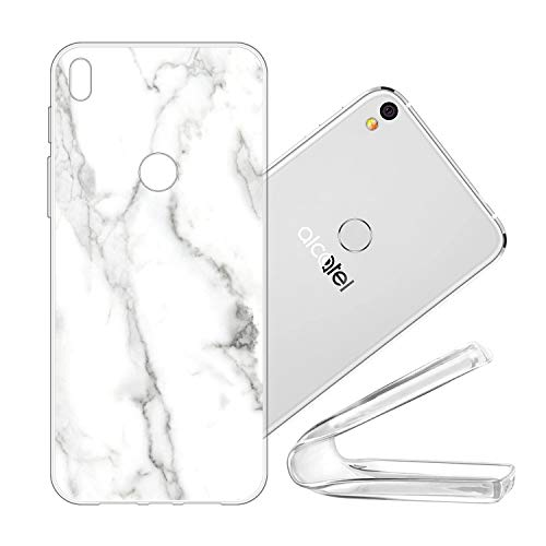 vingarshern Handyhülle Kompatibel mit Alcatel Shine Lite (5080X) Hülle Silikon Bumper Hülle,Dünne Flex Weich Fallschutz Silikonhülle Stoßfest Back Cover (Marmor Muster 06)