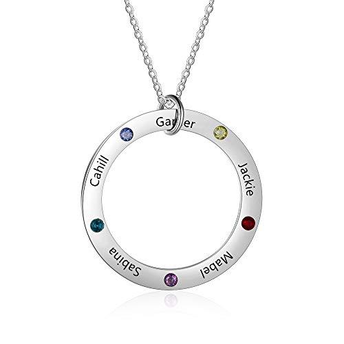 Grand Made Collar Personalizado Nombre Madre Collar Mujer Gargantilla estimulada con nácar para Madre BBF Joyería de la Mujer de la Familia