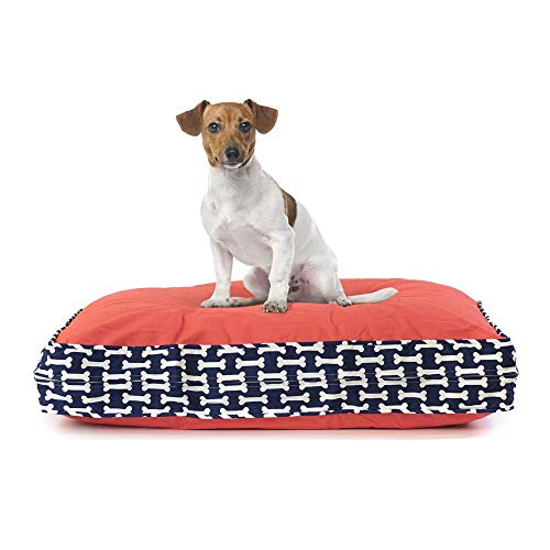 eLuxurySupply Pet Bed - Deluxe Cluster Fiber Filling Pet Beds for Dog and Cats | 100% Cotton Removable Cover | Fully Washable | Small, Medium & Large Pet Beds