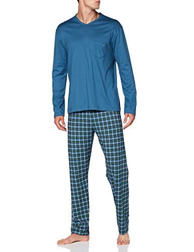CALIDA Herren Relax Imprint 1 Pyjamaset, Blue Lake, L