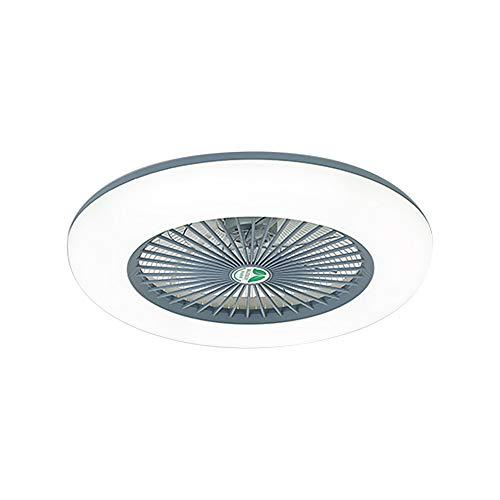 Lixada Deckenventilator mit Beleuchtung LED-Licht Einstellbare Windgeschwindigkeit mit Fernbedienung Ohne Batterie 36W Moderne LED-Deckenleuchte für Schlafzimmer Wohnzimmer Esszimmer,Grau