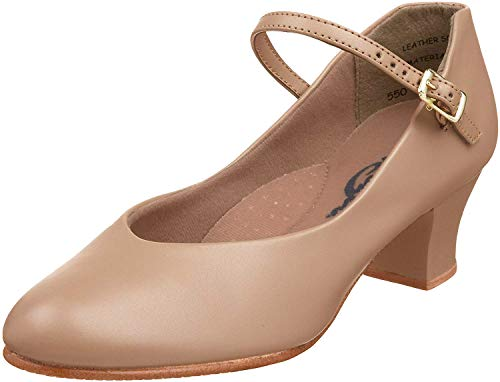Capezio Women's Jr. Footlight Character Shoe,Caramel,7.5 M US
