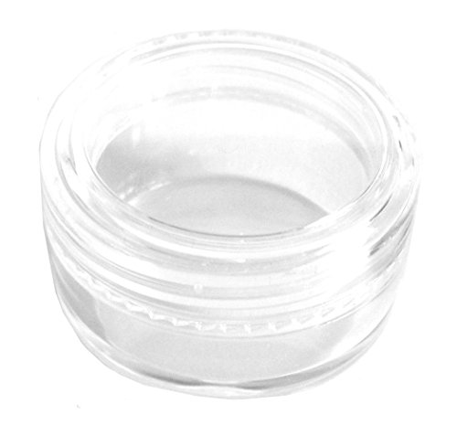 5x 5mL EMPTY PLASTIC JARS POTS w/ CLEAR SCREW LIDS for Cosmetics/Powder/Mineral Make Up/Blusher/Foundation by Other