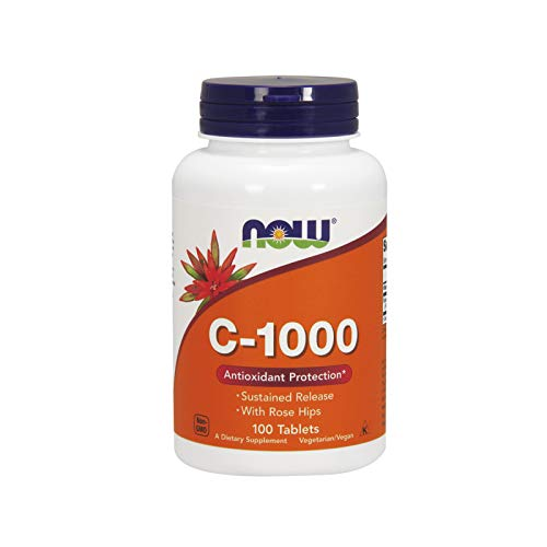 Now Foods, vitamine C-1000, continue afgifte, 100 veg. tabletten