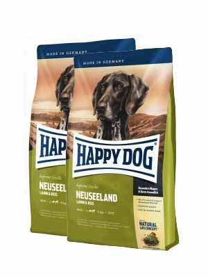 Happy Dog Supreme Sensible Neuseeland 2x12,5kg + MIOMERA gratis Snack
