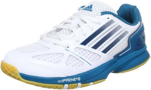 adidas adizero Prime W G64974, Damen Handballschuhe, Mehrfarbig (Running White Ftw / Tech Onix F12 / Vivid Teal S13), EU 46 (UK 11)