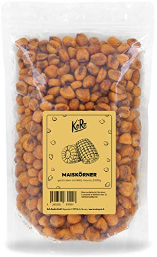 KoRo - Geröstete Maiskörner mit BBQ-Gewürz 500 g - Der rauchige Snack für zwischendurch