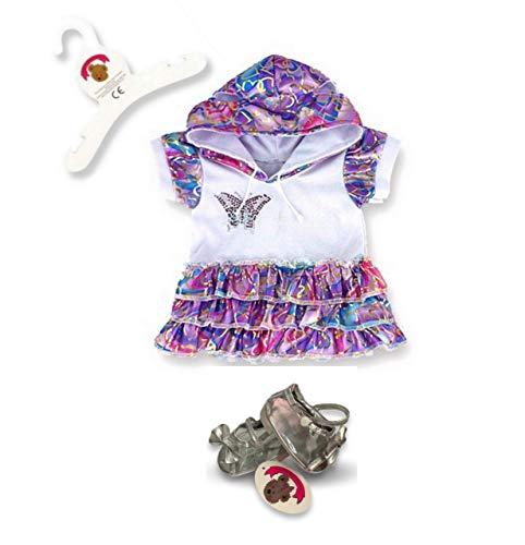 Build Your Bears Wardrobe Teddy Bear Clothes fits Build a Bear Teddies Butterfly Dress (purple)