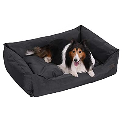 FEANDREA Dog Bed, XXL Dog Basket, Comfortable Dog Sofa, Cosy Pet Bed in Bedroom, Living Room and Hallway, Easy to Clean, Non-Skip, 100 x 70 x 28 cm by FEANDREA