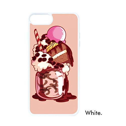 DIYthinker Cake Biscuit Crème Chocolade Ijs Witte Phonecase Apple Cover Case Gift