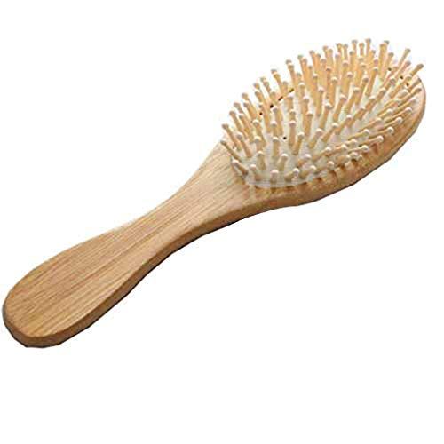 Ogquaton 1x doux peigne bambou naturel en bois anti-statique brosse à cheveux coussin de palette brosse à cheveux massage créatif et utile