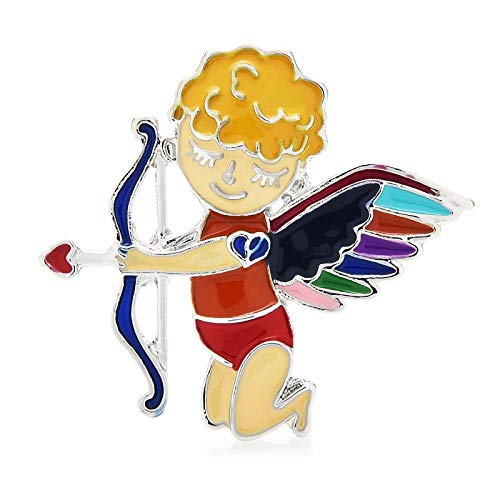 GLKHM Broche Retro Pin Broches De Ángel Esmaltados Broche Unisex