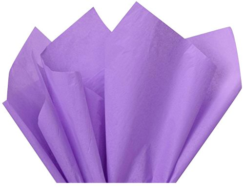 Flexicore Packaging Lilac Purple Gift Wrap Tissue Paper Size: 15 Inch X 20 Inch | Count: 100 Sheets | Color: Lilac Purple