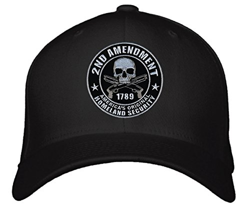 2nd Amendment Hats - Mens Pro Gun Rights Black Adjustable Cap