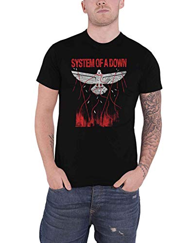 System of A Down T Shirt Dove Overcome Band Logo Nue offiziell Herren