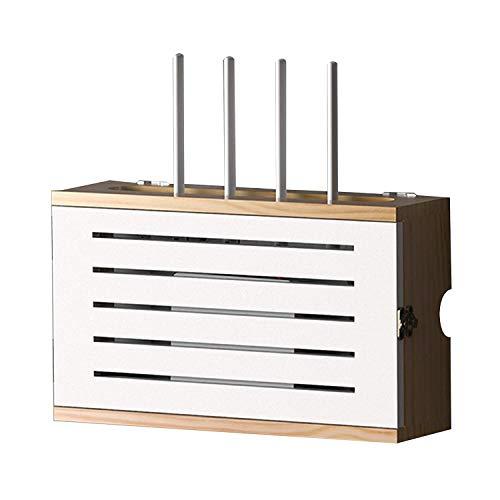 Massivholz Wireless Router WiFi Aufbewahrung Box Rack Set-Top Box Wand Regal, Schwimmende Regal Wand TV Schrank Regal Home Decor, Für Schlafzimmer Wohnzimmer ( Color : C , Size : (36.5*11.5*27.5cm) )