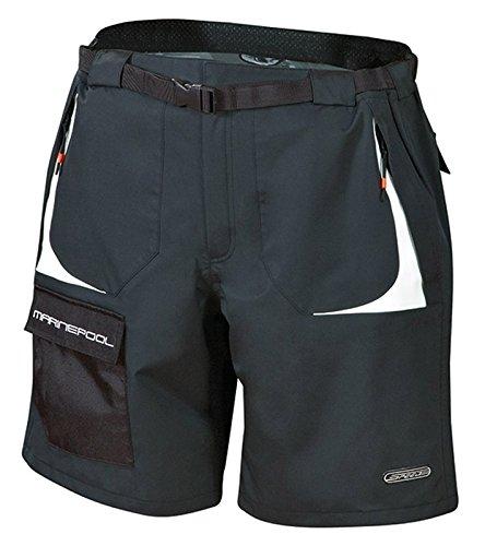 Marinepool Vela Speed Pantaloncini, Unisex, Segel Speed Shorts, Nero, L