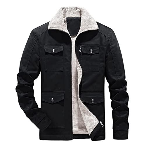 cappotto uomo 100 lana BIKETAFUWY Giacca invernale da uomo
