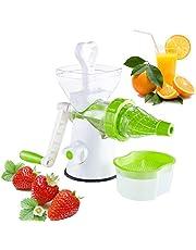housesweet Hand Crank Juicer Koud Druk Handleiding Tarwegras Juicer Icecream Blender Fruit Groente Sap Extractor 26.5 * 13 * 21.5 cm Kleur: wit