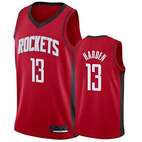 xisnhis Canotta Basket,Pallacanestro Swingman Jersey NBA Houston Rockets 13# Harden Ricamato Mesh - Jersey Uomo, (Size:S-XXL)
