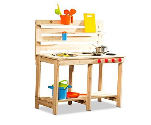 Coemo Matschküche Outdoor-Küche Garten-Spieltisch für Kinder