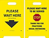 Double-sided reversible floor sign is made out of corrugated polyethylene. Help prevent the spread of communicable disease by displaying proper signage in highly trafficed areas. Made in USA
