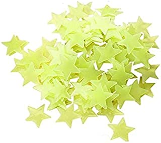 100pcs stars Glow in the Dark Luminous Fluorescent 3D Wall Stickers with Adhesive Removable Decal Crafts Baby Kids Nursery...
