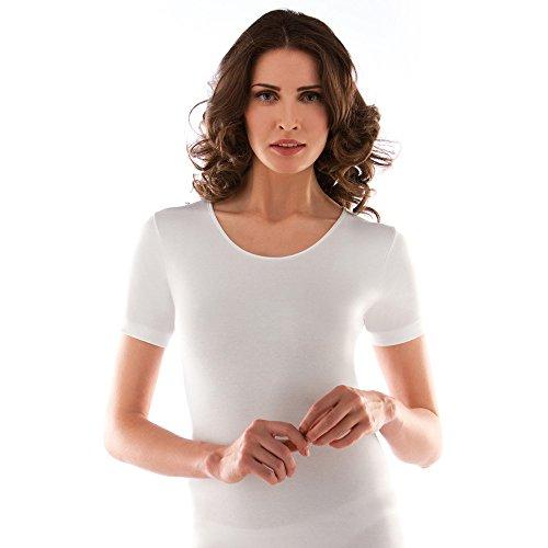 Liabel 2 camiciola donna mezza manica caldo cotone girocollo bianco art. 02828/D26 (6/XL)