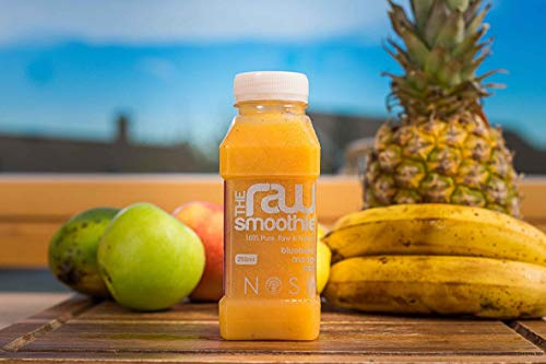 Nosh Detox 'The Raw Smoothie' Detox Cleanse Drink - 8 x 250ml 'Calm & Soothe' Blueberry, Mango & Acai Sugar Free Smoothie-Freshly Made Detox Drink - Premium Formula Healthy Energy Drink