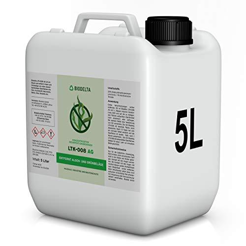 BioDelta LTK008 | Grünbelagentferner | Moosentferner | Algenentferner | 5 L Konzentrat | Für Stein, Holz, Fassaden & Kunststoff | Made in Germany