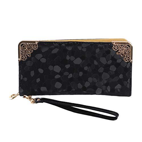 Bigsweety Stein Muster Damenmode Lange Brieftasche pu Leder einhand Kupplung