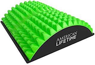 American Lifetime Lower Back Stretcher, Massage for Chronic Lumbar Pain Relief Treatment, Helps with Spinal Stenosis Sciatica Herniated Disc and Neck Muscle Pain, Green