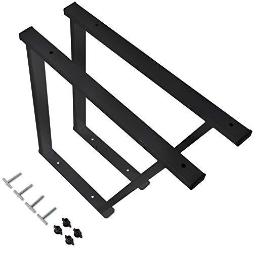 VW Multivan T5/T6 Pulverbeschichtete Konsole/Multiflexboard mit Schienenbefestigung/Schwarze Konsolen für VW Bus Modelle / T5 Zubehör / T6 Bettverlängerung/Höhe 51cm / 2 Stück (Schwarz)